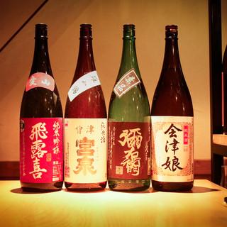 東北は会津の日本酒と種類豊富な洋酒