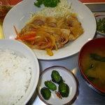 みどり食堂 - 料理写真:生姜焼き定食600円