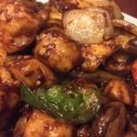 留香 - 鶏肉の味噌炒め定食¥800
