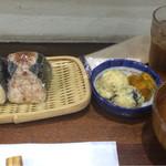 お米ダイニングメダカのがっこう - おにぎり定食
