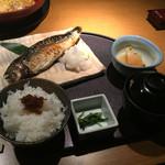 音音 - 焼き魚膳(1380円)