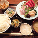仁松庵 - 刺身定食1180円