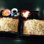 そば処 三喜庵 - もりそば 食べ放題 ¥980  最低でもこのセイロ2枚であとは何枚おかわりしても同じ値段です^_^;