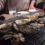 かき小屋 - 焼き牡蠣
