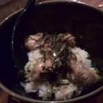 かき小屋 - 牡蠣ご飯