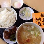 国見サービスエリア(下り線)スナックコーナー - 芋煮定食@660