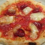 イタリアン居酒屋 にんたま屋台 - サラミとアンチョビのピザ(2015年11月来店)
