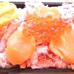 45088082 - あい田 ほたていくら蟹弁当の中身その2♪ in博多阪急北海道展