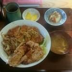 小松食堂 - まんぷく丼   950円