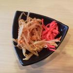 尾道ラーメン 麺屋壱世 - 無料のトッピング