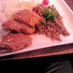 4509279 - 日替わり (焼肉&ヒレカツ) 700円