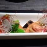 博多 十和蔵 - 海老フリッターと旬野菜の柚子胡椒オーロラソース添え(1200円)