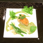 レ・コパン - 金目鯛のポワレ わさびのソース