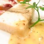 レ・コパン - 海老と穴子のテリーヌ マスタードのソース