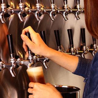 樽生クラフトビール16種類!!大手ビール8種類!!
