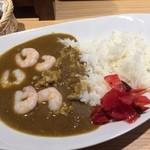 銀cafe - 料理写真:気まぐれカレーランチ(他コーヒー付)(エビのグリーンカレー)700円