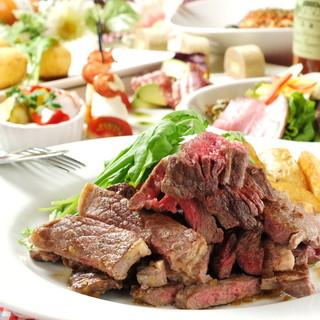 シェフのこだわり熟成肉コース180分飲み放題全8品4000円