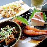 萬願亭 - 時間限定17:30~20:00本日のセットメニュー 本日入荷魚料理とドリンクのセットです!