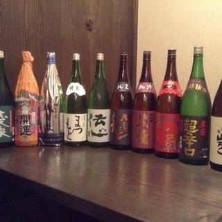 静岡や京都の酒屋から仕入れる日本酒