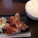 びし屋 - ライス+唐揚