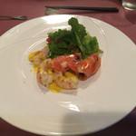 モンペリエ オーヴェルジュ - 最初の一皿 オマールエビと甘海老のグリル