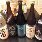 笑顔 - 日本酒はほとんど500円~700円ぐらい。