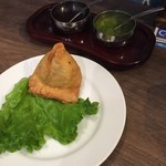 インドカレー&ナン ムンバイ - サモサ(¥210)