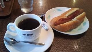 カフェ東亜サプライ - モーニング 380円(ソフトブレンド)
