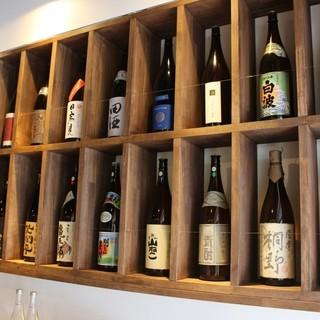 47都道府県のお酒を揃えています。