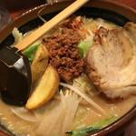 彰膳 - 料理写真:北海道味噌野菜ラーメン大盛、炙りチャーシュートッピング