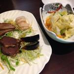 天丹 - 前菜盛と漬けもの