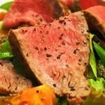 洋食Revo - ランチペアセット(黒毛和牛ローストビーフサラダ)