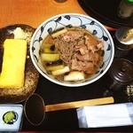 大江戸そば - 肉ネギ蕎麦と出し巻き卵!