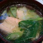 45136933 - 鮭のお味噌汁 昼