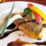 レストラン シマダ - 真鯛のムニエル バルサミコソース