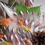 別府 北浜海道 - 豊後サバの活造り!脂が程よくのってます!