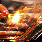 別府 北浜海道 - 魚だけじゃなく炭火焼の串焼きもあります!
