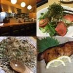 45143375 - 銀鱈みりん、山芋お好み焼き、豆腐サラダ