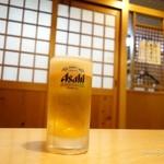 てんまさ - 2015年10月 生ビール中【450円】