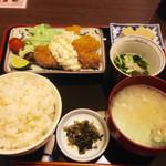 45146539 - マグロの一口カツ定食(*´д`*)800円
