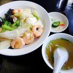 紅龍 - エビ炒めかけご飯