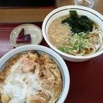 山田うどん - 料理写真:かき揚げ丼セット