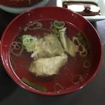 宿呂久 - アラ汁はシンプルな塩味
