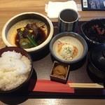 麹蔵 - ラフテー定食800円