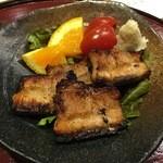 鮨 蟹 大助別亭 - 千歳のう米豚を使った「炙り焼豚」、これ好き、トロットロ!