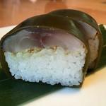 鮨 蟹 大助別亭 - お気に入りの「鯖の棒ずし」は、おみやにして朝食でいただく。旨し!