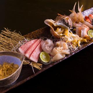 海の幸に恵まれた北海道ならでは、鮮度抜群の魚介類