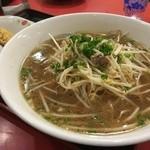 中華料理 大栄飯店 - 日替わりのサービスランチ(この日はモヤシラーメン&半チャン)