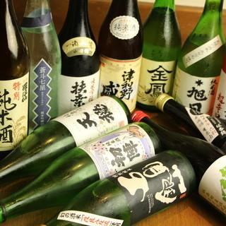 ★カウンター限定★厳選島根地酒がALL500円!予約も可能♪