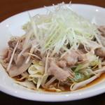 愛媛県産岩戸こだわり豚の湯引き特製醤油ソースかけ